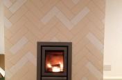 Patterned Fireplace