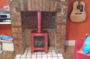 Funky Chic Fireplace & Stove